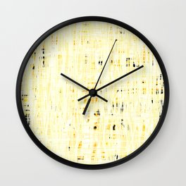 20190219 White Grid No. 4 Wall Clock