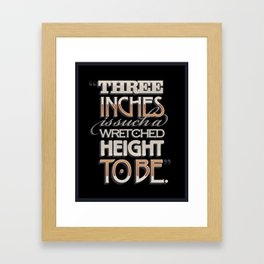 Wretched Height Framed Art Print