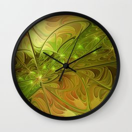 Hope, Abstract Fractal Art Wall Clock