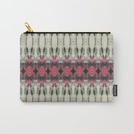 Pink and Green Spider Shibori Carry-All Pouch