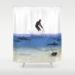 Parting Ways by Lars Furtwaengler   Colored Pencil   2013 Shower Curtain