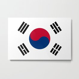 National flag of South Korea, officially the Republic of Korea, Authentic version - color and scale Metal Print
