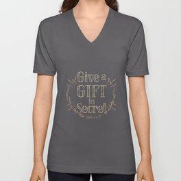 Give a Gift in Secret Unisex V-Neck