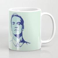 prometheus Mugs featuring David 8 by Woah Jonny