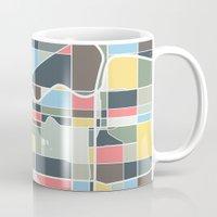 portland Mugs featuring Portland. by Studio Tesouro