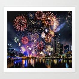 Fabulous Fireworks Art Print