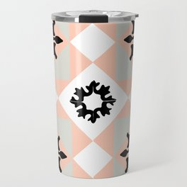portuguese tiles pattern vector Travel Mug