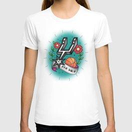 Old-School Spurs Love T-shirt