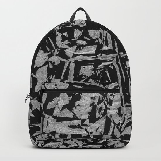 Black - Silver - Crazy Backpack