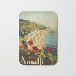 Vintage Travel Ad Amalfi Italy Bath Mat
