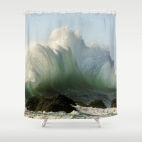 plain Shower Curtains featuring Just Plain Luck ! by MadDog