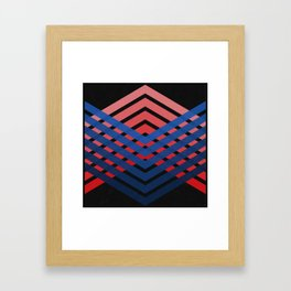 Blue & Red Connections Framed Art Print