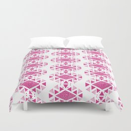 Monlay Pink, Mountain lines, Geometric Duvet Cover