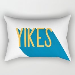 """Yikes"" Typography Rectangular Pillow"