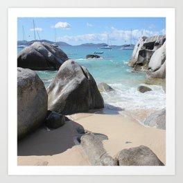Scenic Beach at The Baths on Virgin Gorda, BVI Art Print