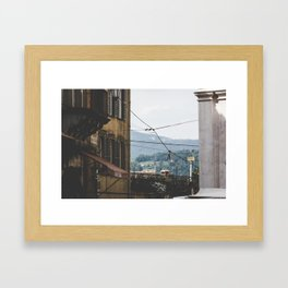 Quiet street in Bergamo, Italy Framed Art Print