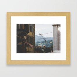 Quiet street in Bergamo, Italy Framed Art Print