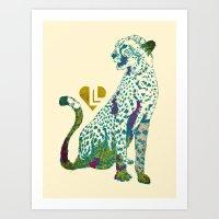cheetah Art Prints featuring Cheetah by Danny Haas