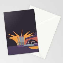 Soviet Modernism: Central bus station in Hrazdan, Armenia Stationery Cards
