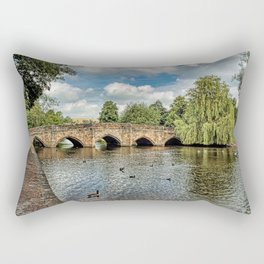 5 Arches of Bakewell Bridge Rectangular Pillow
