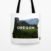 oregon Tote Bags featuring Oregon by Hillary Murphy