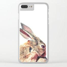 Rabbit Portrait Clear iPhone Case
