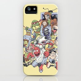 Revenge of the mixed up toons that were at some point cancelled iPhone Case
