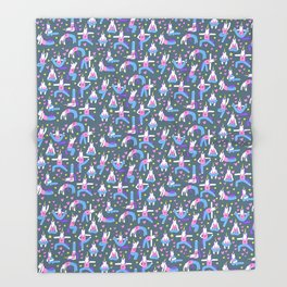 Yoga Unicorns (Yogacorns) Throw Blanket