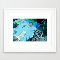 sailing Framed Art Prints featuring Sailing by Robin Curtiss