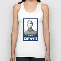 prometheus Tank Tops featuring Prometheus - David 8 - Employee of the month by Yiannis