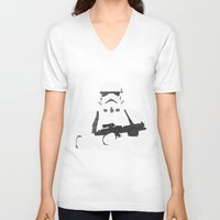 stormtrooper V-neck T-shirts featuring Stormtrooper by  Steve Wade ( Swade)