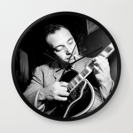 Django Reinhardt at the Aquarium Jazz Club Wall Clock