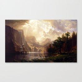 Albert Bierstadt - Among the Sierra Nevada, California Canvas Print