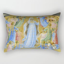 """Fra Angelico (Guido di Pietro) """"The Dormition and Assumption of the Virgin"""" (1) Rectangular Pillow"""