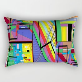 Geometry Abstract Rectangular Pillow