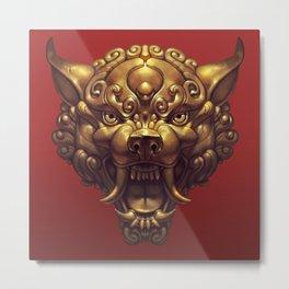 Foo Wolf Red Metal Print