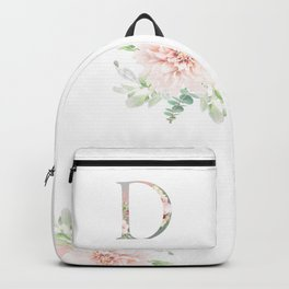 D - Floral Monogram Collection Backpack