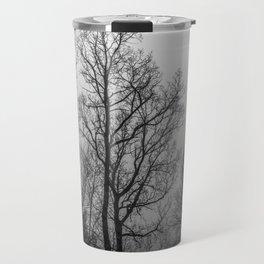 Black and white naked trees Travel Mug