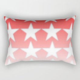 Red and White Stars, Faded Stars, Patriotic Rectangular Pillow