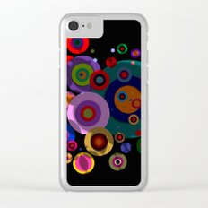 Abstract #320 Circles & Shadows Clear iPhone Case