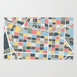 Salamanca Madrid Map Rug
