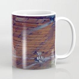 Wood Ceiling, Chrome Fans Coffee Mug