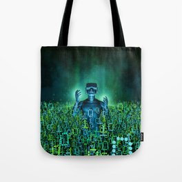 Virtual Dawn Tote Bag