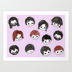 Plushie Richies Art Print
