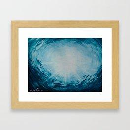 Ocean Ripples | Watercolor Framed Art Print