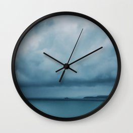 Drifting Blue Wall Clock