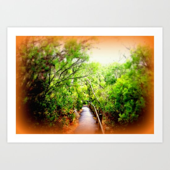 Path leading to Nelson River Art Print