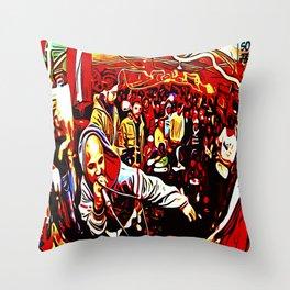 FREESTYLE CYPHER: ONE MIC Throw Pillow