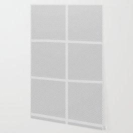 Tiny Paw Prints - Grey on Light Silver Grey Wallpaper
