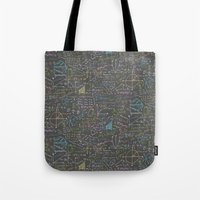 math Tote Bags featuring Math Lessons by robyriker